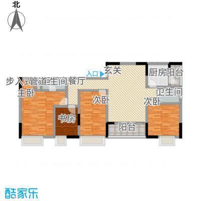 三峡明珠大厦4136.76㎡b4户型