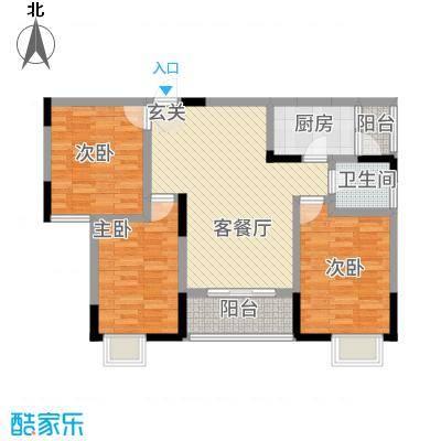 三峡明珠大厦5.34㎡b5户型