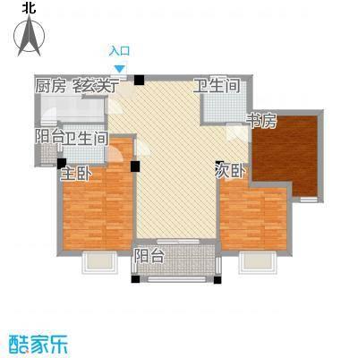 滨江星城12311.57㎡1号户型3室2厅2卫1厨