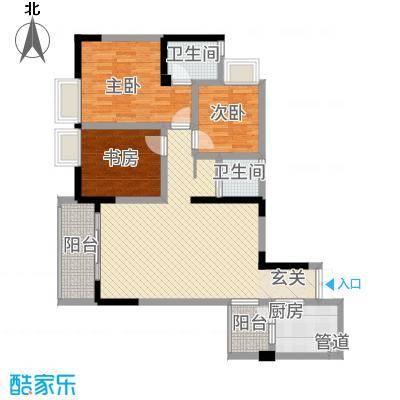 荣润凯旋名城113.10㎡一期F户型3室2厅2卫1厨