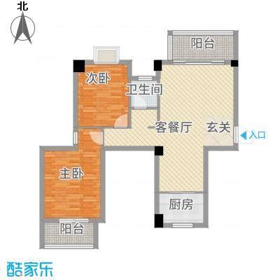 广隆海尚首府111.20㎡G户型2室2厅1卫1厨