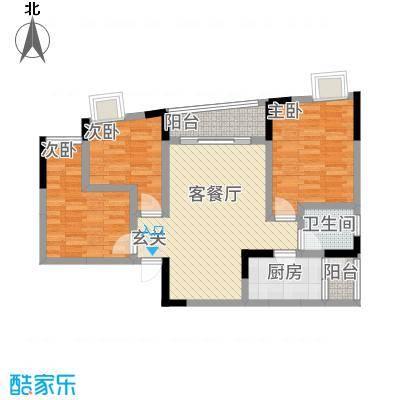 三峡明珠大厦4.12㎡b4户型