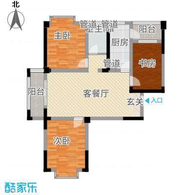 曼哈顿MOMA国际社区115.20㎡一期品味生活B1户型3室2厅1卫1厨