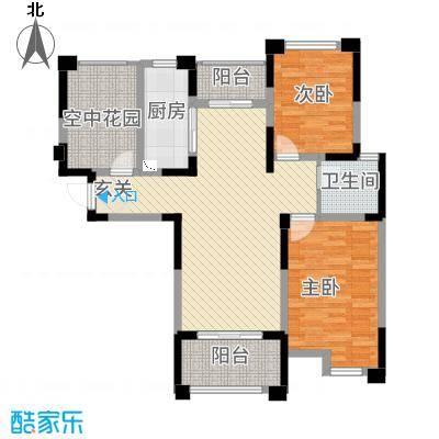 永华滨江名城11.20㎡一期8#楼C户型2室2厅1卫1厨