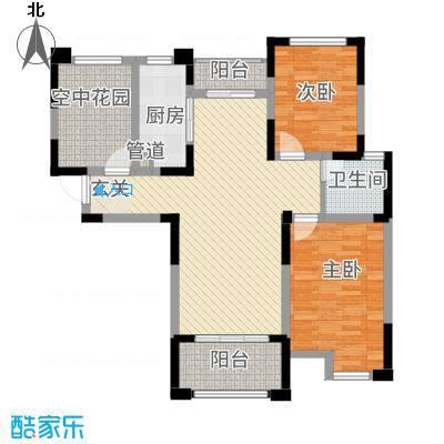 永华滨江名城方双阳台户型2室2厅