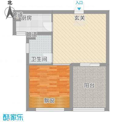 凯悦金领公寓F平面布置图户型