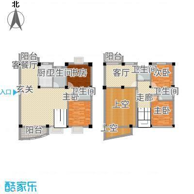 泉南国际新城214.20㎡D201户型4室3厅4卫1厨