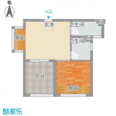 凯悦金领公寓H平面布置图户型