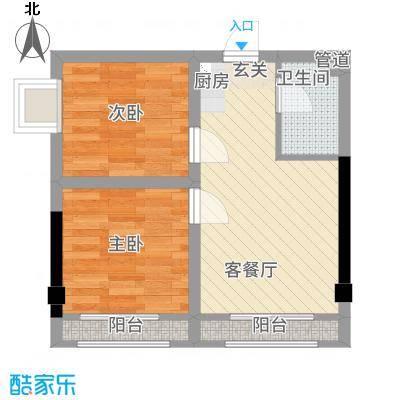 丽南公馆3127.54㎡301装修户型2室