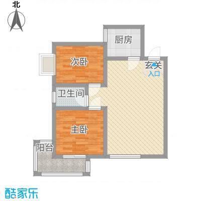 希尔国际公馆376.20㎡3B户型2室2厅1卫1厨