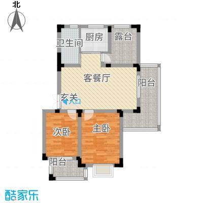 高速秋浦天地1.34㎡1#2#3#5#6#7#楼A1户型2室2厅1卫1厨
