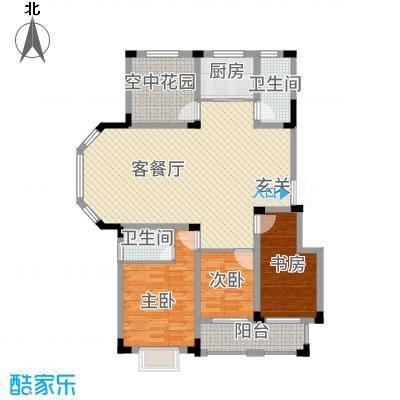 高速秋浦天地141.14㎡10~13#楼C4户型3室2厅2卫1厨