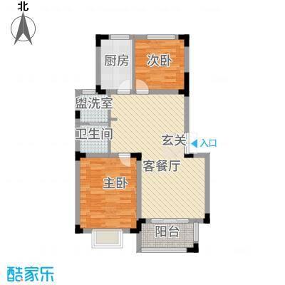 高速秋浦天地87.81㎡1#2#3#5#6#楼A2户型2室2厅1卫1厨