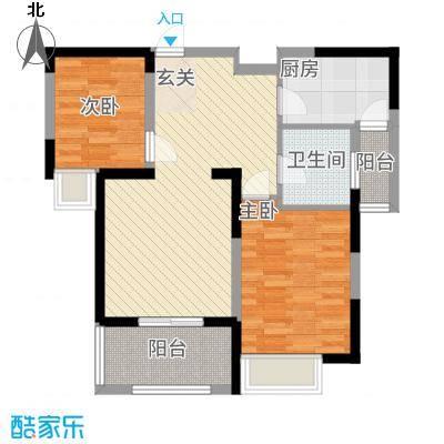 上城国际28.20㎡户型2室1厅1卫1厨