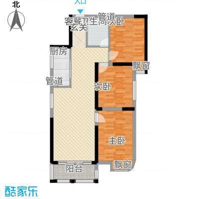 恒泰财富新都117.22㎡户型3室2厅1卫1厨