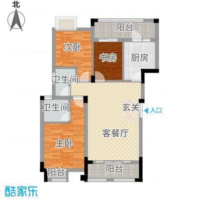 望城天地16322.86㎡A-户型3室2厅2卫1厨