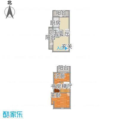 渭城风景1254.62㎡D1户型2室2厅1卫1厨