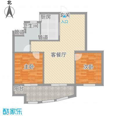 卧龙天香华庭133.42㎡13#楼E2户型2室2厅1卫1厨