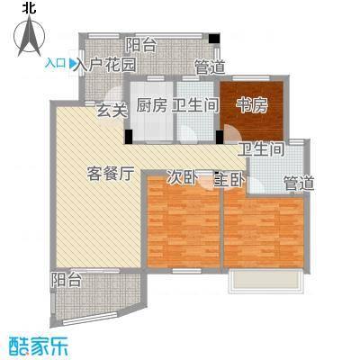 卧龙天香华庭1516131.25㎡15、16#楼P户型3室2厅2卫1厨