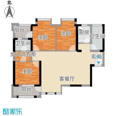 华尔国际3115.25㎡户型3室2厅1卫1厨