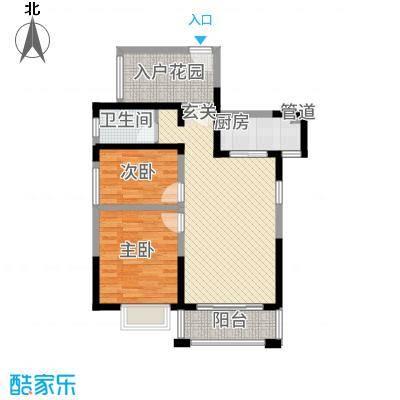 庐江中心城27.42㎡B户型2室2厅1卫1厨