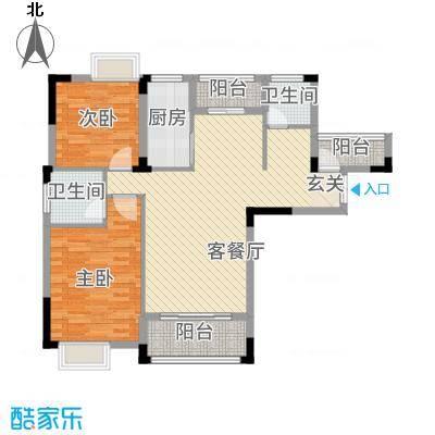 东方国际花园11.20㎡D户型2室2厅2卫1厨