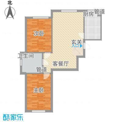 华溪龙城二期1488.55㎡A1A4户型3室2厅1卫1厨