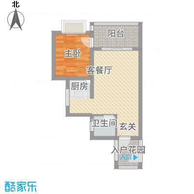 锦绣蓝湾1162.12㎡J户型1室1厅1卫1厨