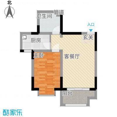 芳清苑3#Q户型1室2厅1卫1厨