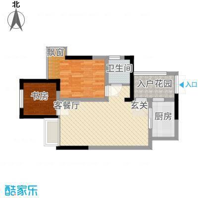 九鼎・御江山5.42㎡3副本户型1室2厅1卫1厨