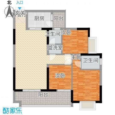 铜锣湾832121.19㎡08户型3室2厅2卫