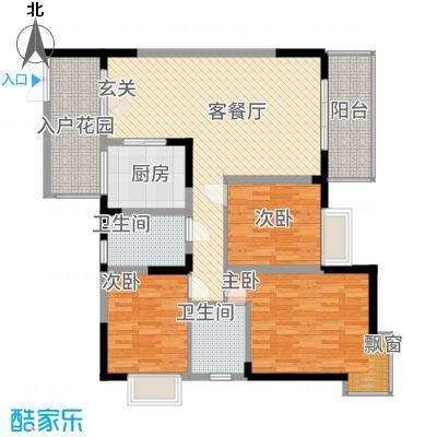 铜锣湾53212.33㎡05户型3室2厅2卫