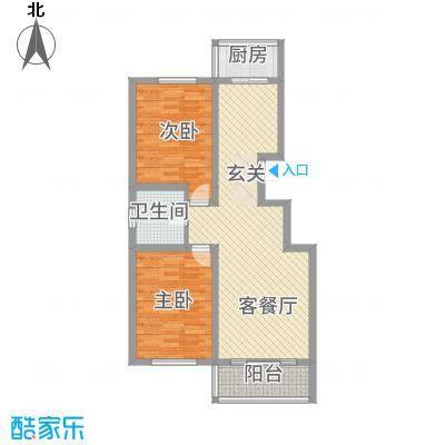 龙源三期22.20㎡A户型2室2厅1卫1厨