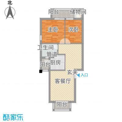 嘉和城12278.34㎡A1户型2室2厅1卫1厨