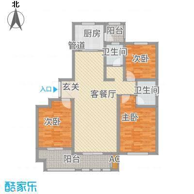 新铭基书香苑148.31㎡小高层1户型3室2厅2卫1厨