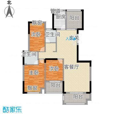 金融街中央领御34128.52㎡3、4、5、6号栋A户型3室2厅2卫1厨