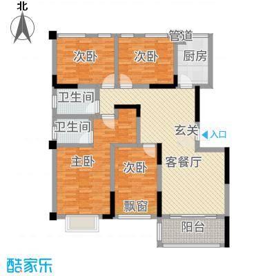 金融街中央领御36134.67㎡3-6号栋A1户型3室2厅2卫1厨