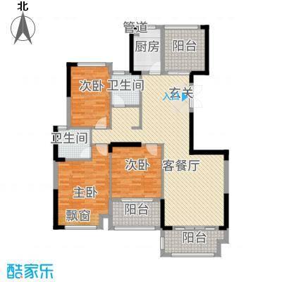 金融街中央领御12134.72㎡1、2、3、4、5、6号栋B户型3室2厅2卫1厨