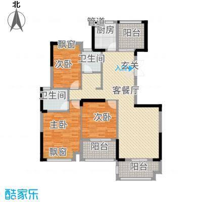 金融街中央领御34126.32㎡3、4、5、6号栋C户型3室2厅2卫1厨