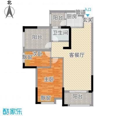 金融街中央领御346.52㎡3、4、5、6号栋F户型2室2厅1卫1厨