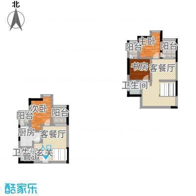 广田泰丰花园4幢跃层A户型