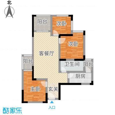广田泰丰花园112.00㎡4幢C户型3室2厅2卫1厨