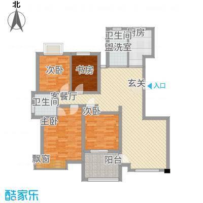 天惠景庭42136.52㎡D户型4室2厅2卫1厨