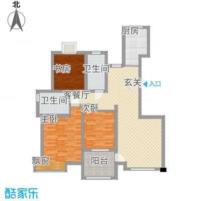 天惠景庭1123.20㎡19#整栋C户型3室2厅2卫1厨