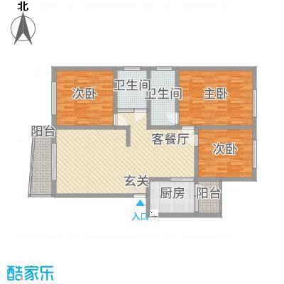 尚城国际32127.20㎡f户型3室2厅2卫1厨