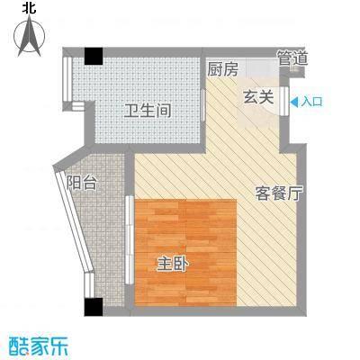 静海湾7246.84㎡F户型1室1厅1卫1厨