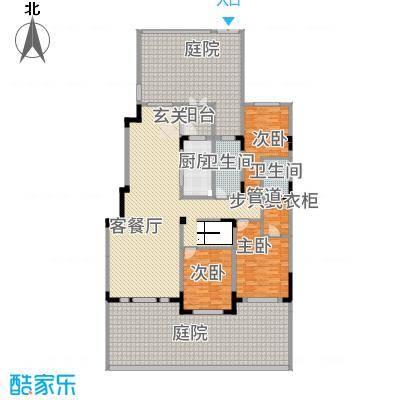 源山别院158.20㎡洋房一层A户型3室2厅2卫1厨