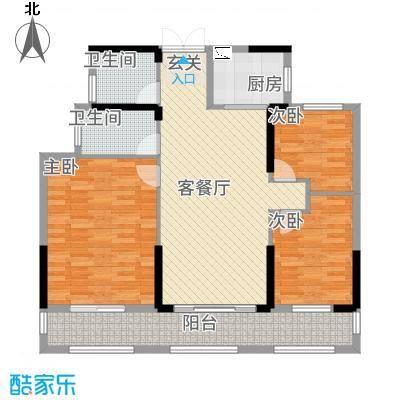 湘水郡12124.42㎡1-2户型
