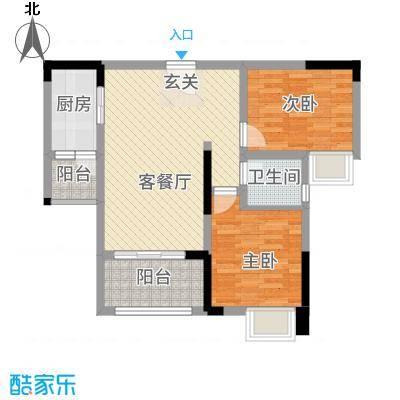 金九・南滨花园78.14㎡6号楼3号房户型2室2厅1卫1厨