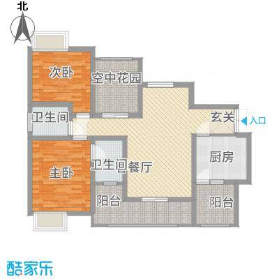 文海・泊金湾31.20㎡3号楼B户型2室2厅2卫